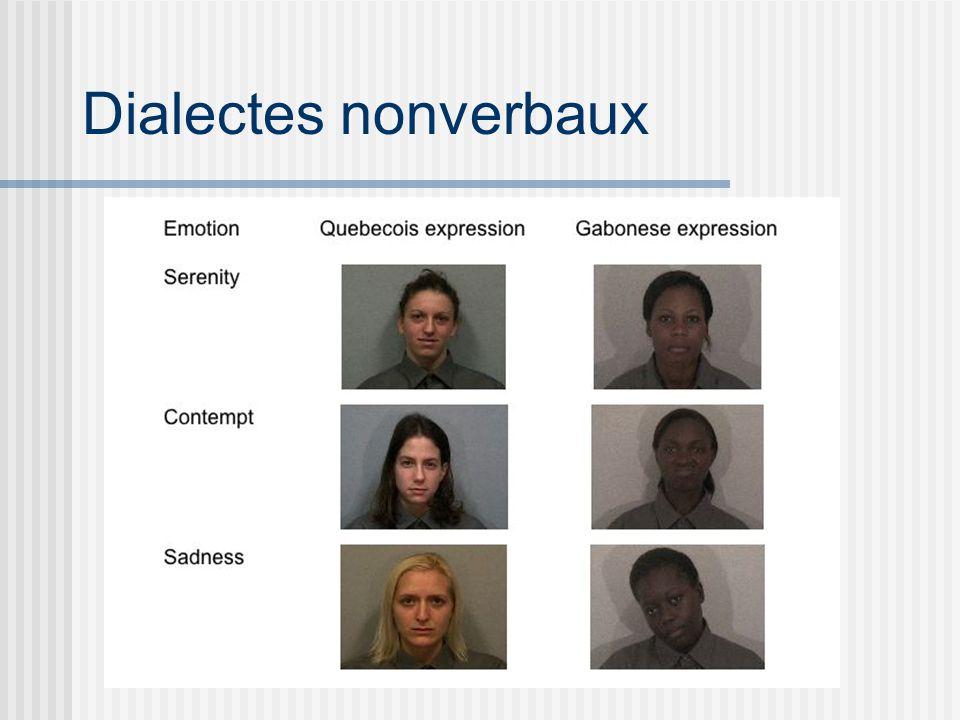 Dialectes nonverbaux