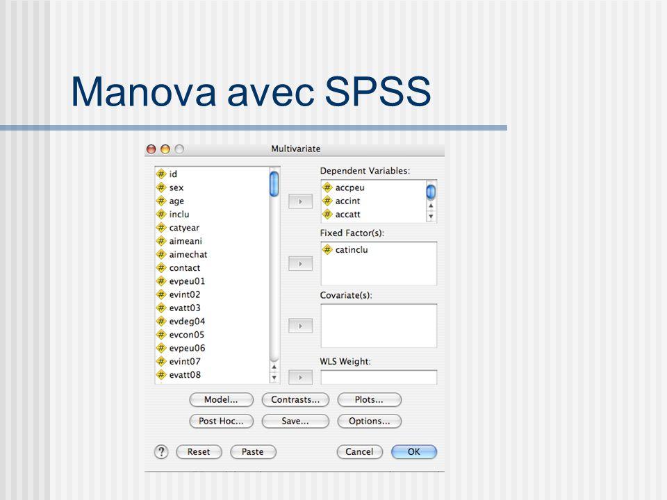 Manova avec SPSS