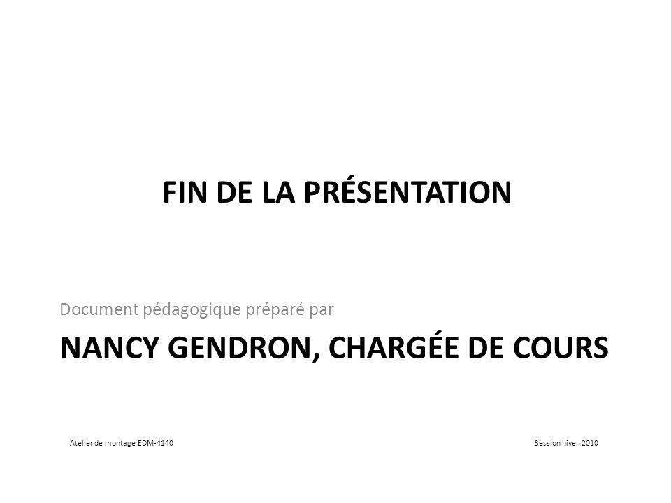 Nancy Gendron, chargée de cours