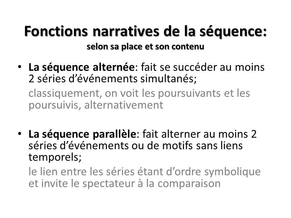 Fonctions narratives de la séquence: selon sa place et son contenu
