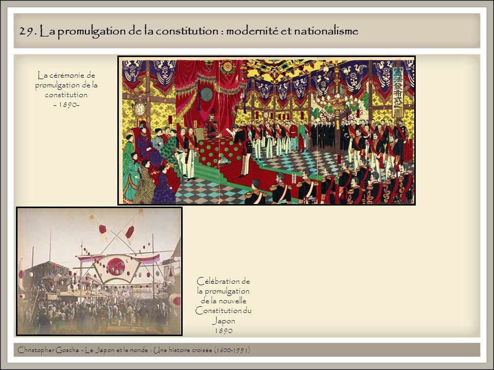 29. La promulgation de la constitution : modernité et nationalisme
