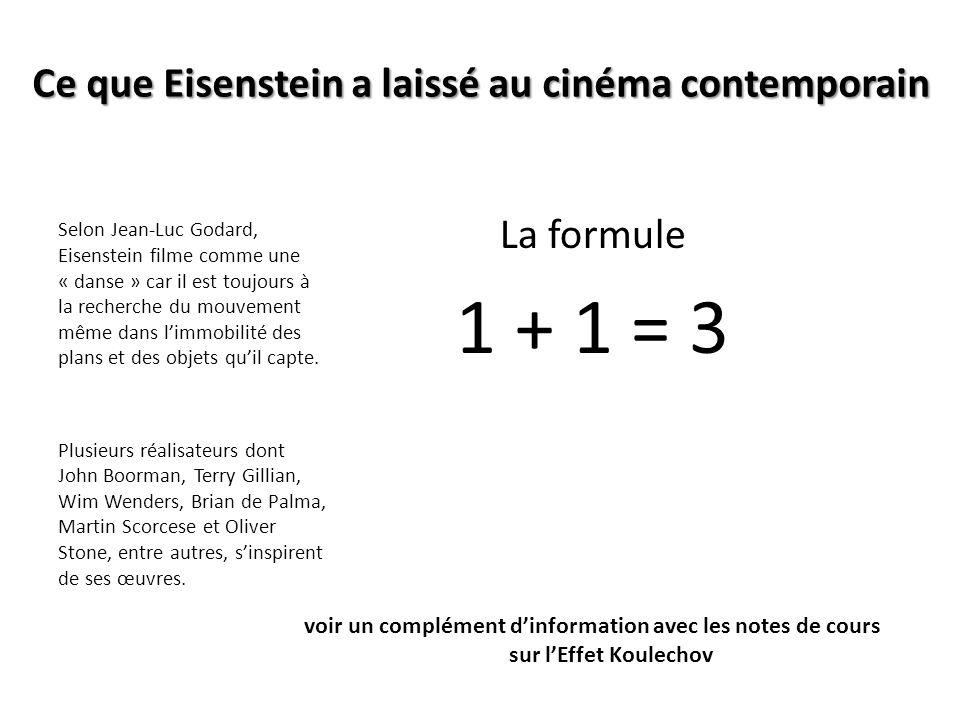 Ce que Eisenstein a laissé au cinéma contemporain