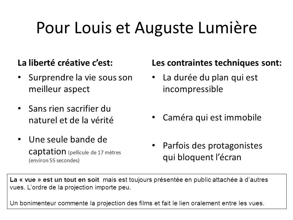 Pour Louis et Auguste Lumière
