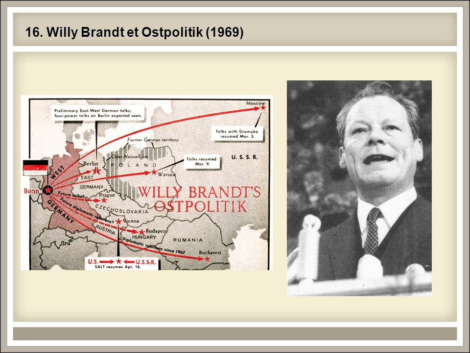 16. Willy Brandt et Ostpolitik (1969)