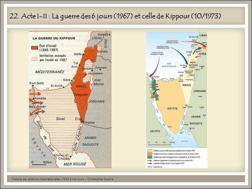 22. Acte I-II : La guerre des 6 jours (1967) et celle de Kippour (10/1973)
