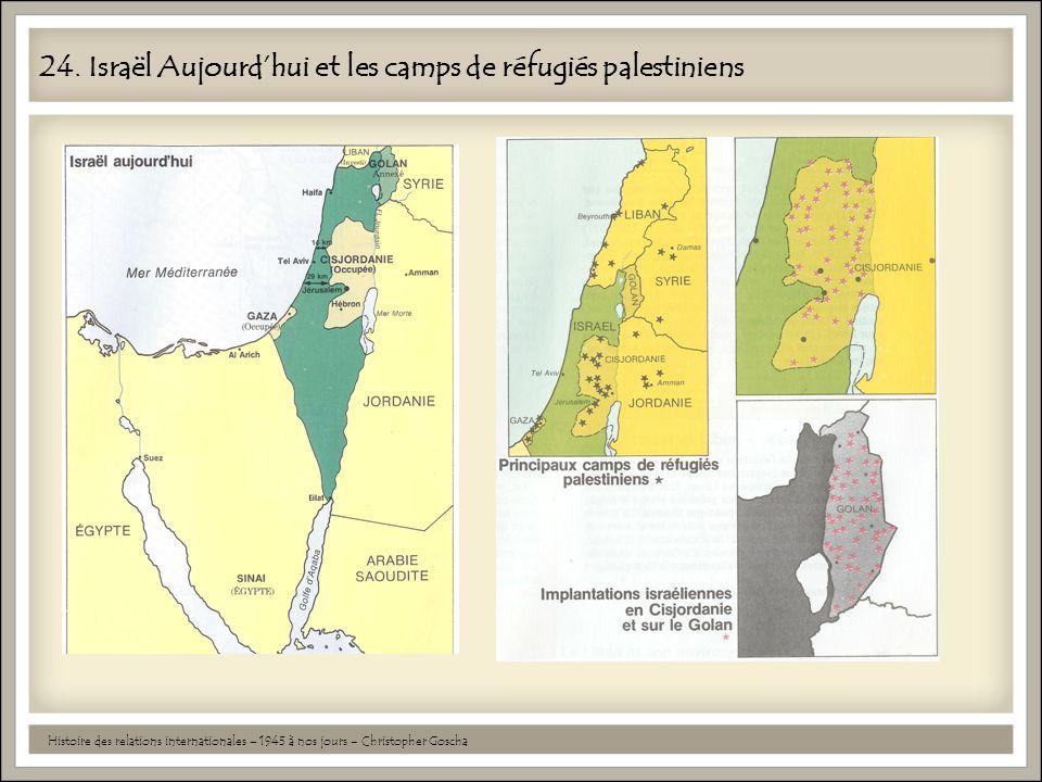 24. Israël Aujourd'hui et les camps de réfugiés palestiniens