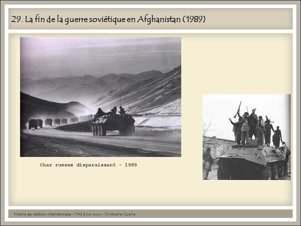 29. La fin de la guerre soviétique en Afghanistan (1989)