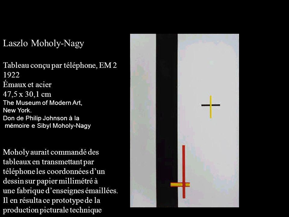 Laszlo Moholy-Nagy Tableau conçu par téléphone, EM 2 1922