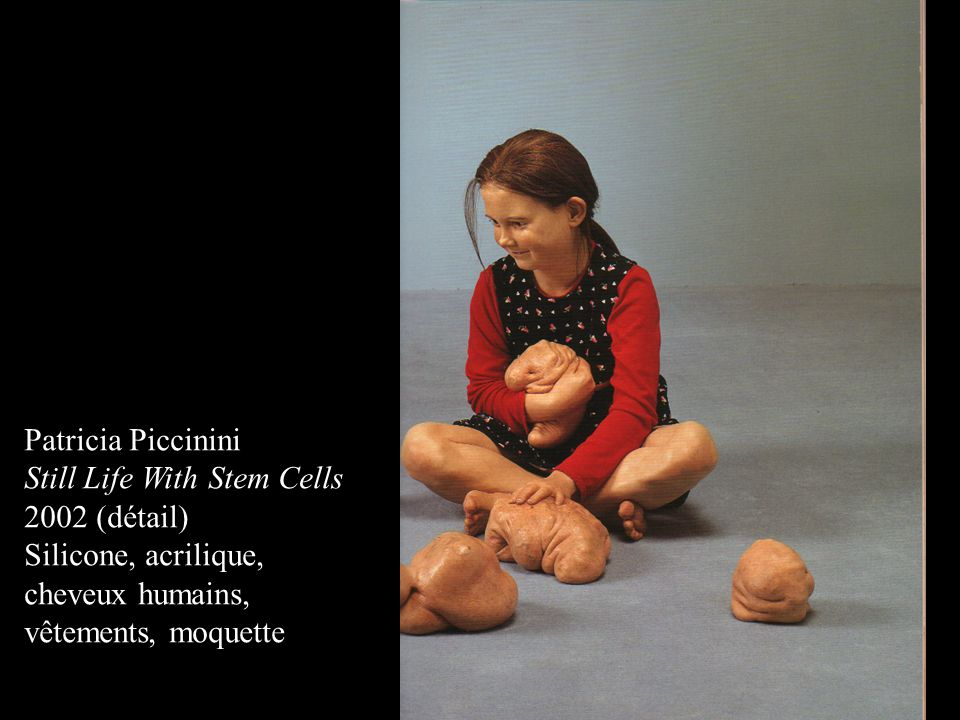 Patricia Piccinini Still Life With Stem Cells. 2002 (détail) Silicone, acrilique, cheveux humains,