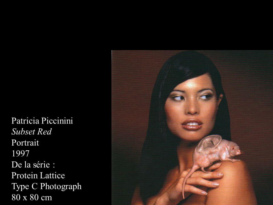 Patricia Piccinini Subset Red. Portrait. 1997. De la série : Protein Lattice. Type C Photograph.