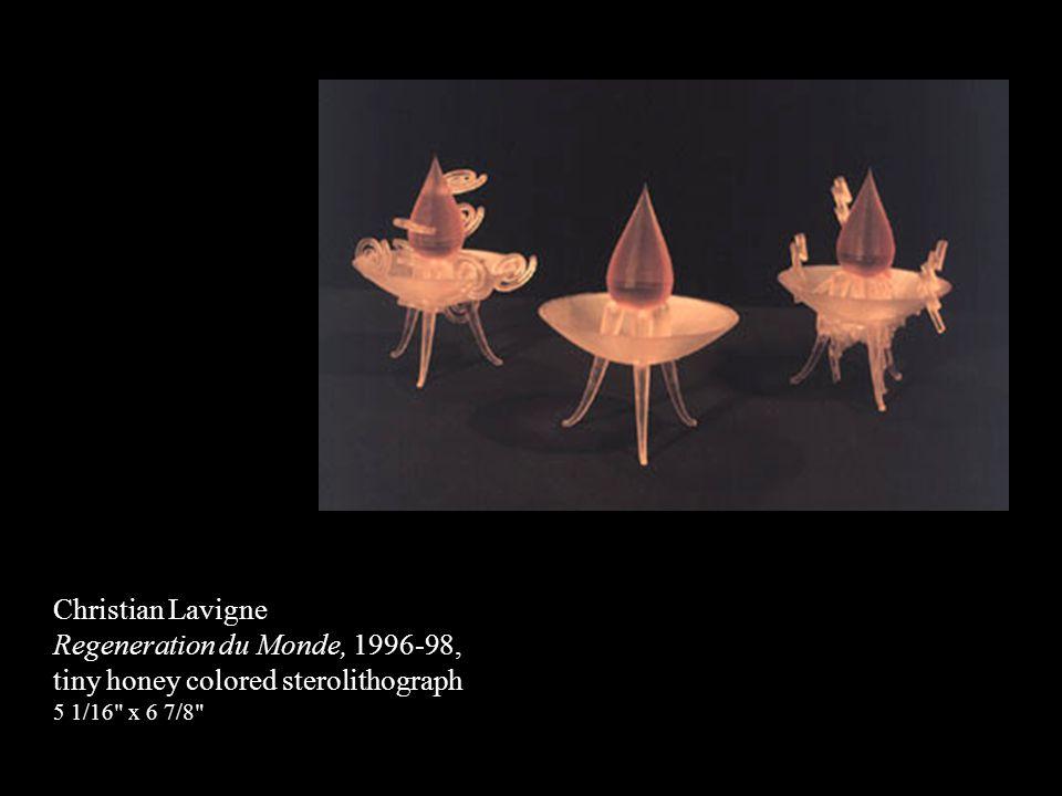 Regeneration du Monde, 1996-98, tiny honey colored sterolithograph