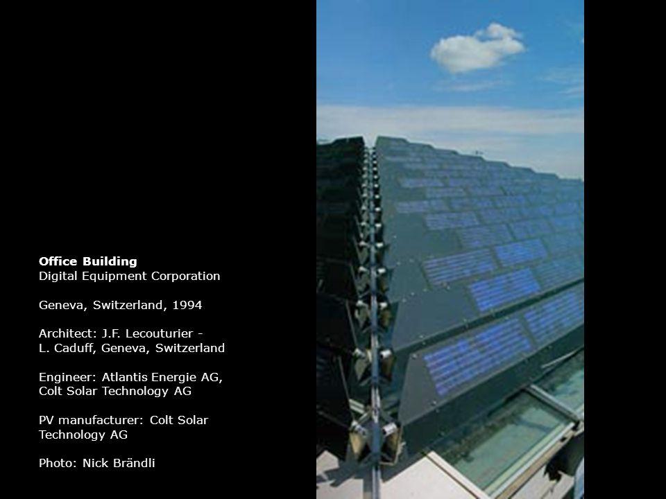 Office Building Digital Equipment Corporation. Geneva, Switzerland, 1994. Architect: J.F. Lecouturier -