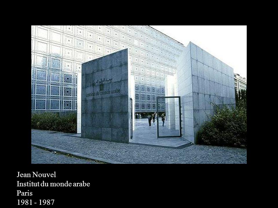 Jean Nouvel Institut du monde arabe Paris 1981 - 1987