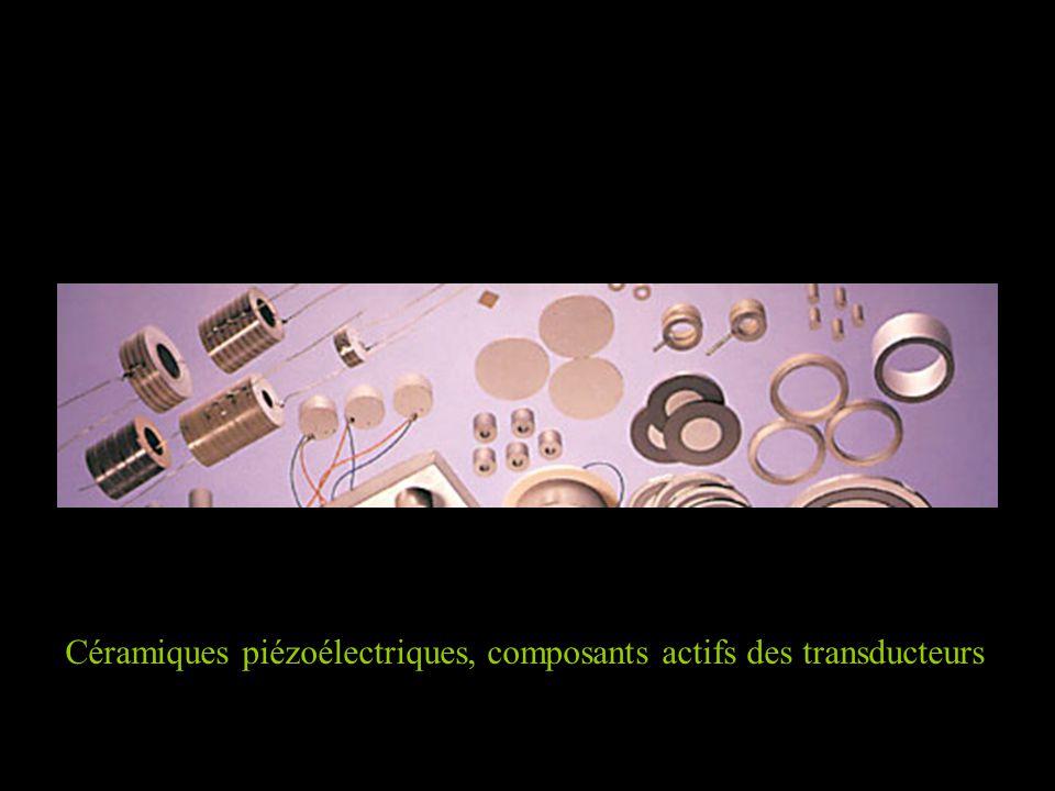 Céramiques piézoélectriques, composants actifs des transducteurs