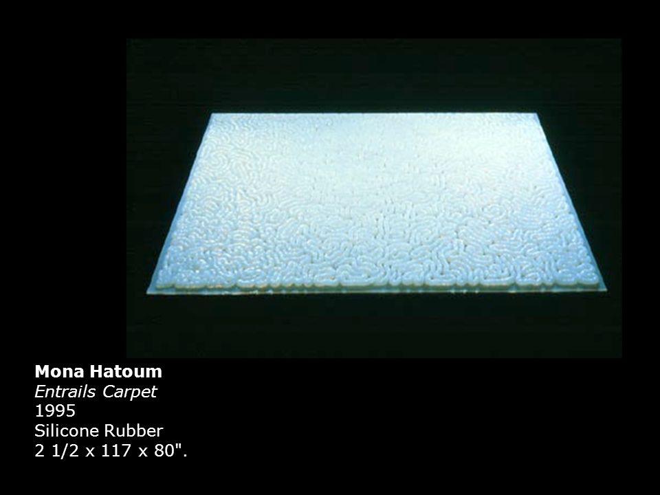 Mona Hatoum Entrails Carpet 1995 Silicone Rubber 2 1/2 x 117 x 80 .