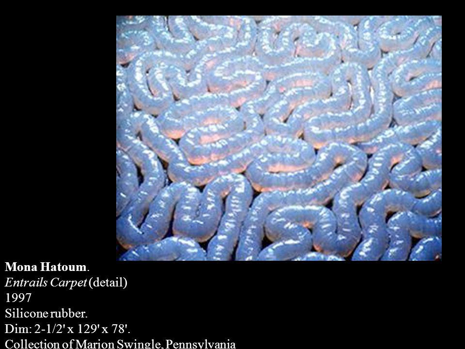 Mona Hatoum. Entrails Carpet (detail) 1997. Silicone rubber.
