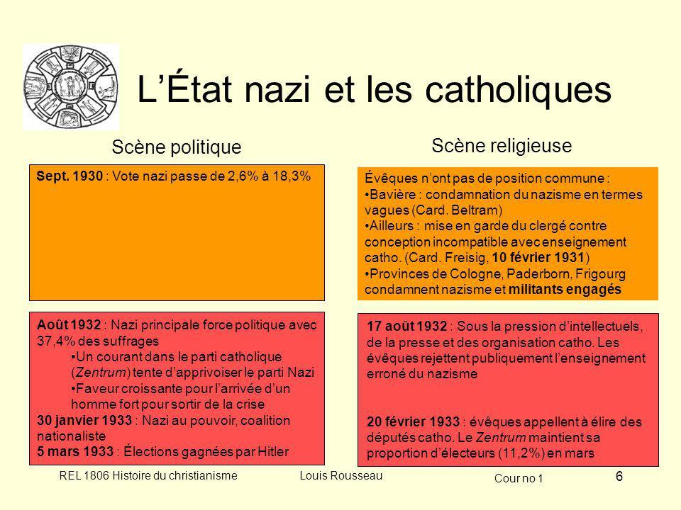 L'État nazi et les catholiques