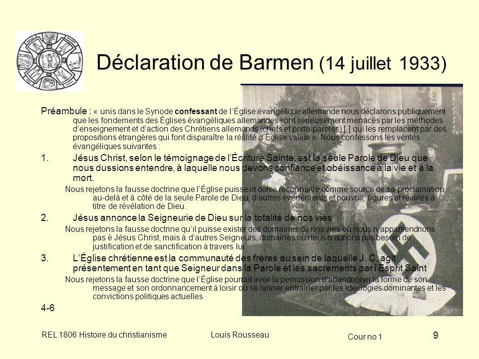 Déclaration de Barmen (14 juillet 1933)
