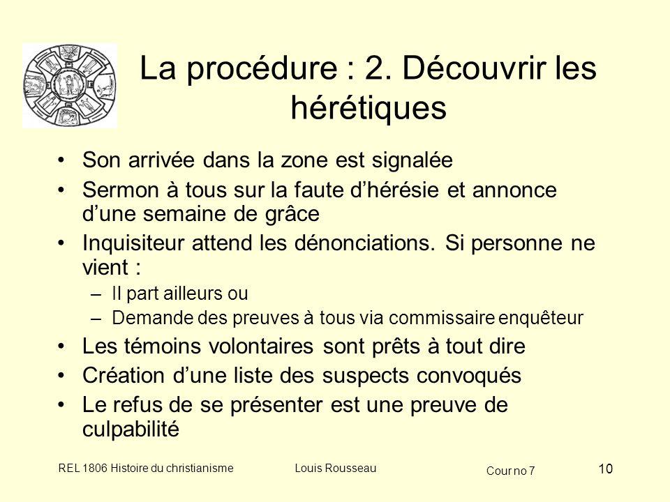 La procédure : 2. Découvrir les hérétiques