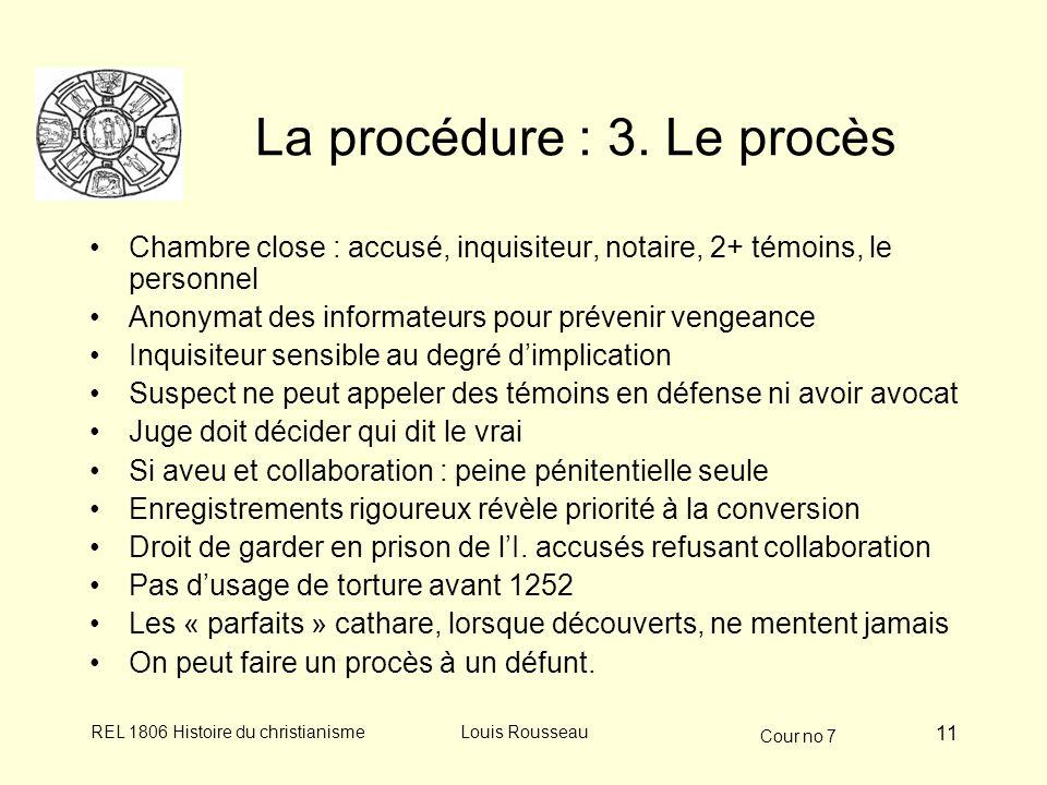 La procédure : 3. Le procès