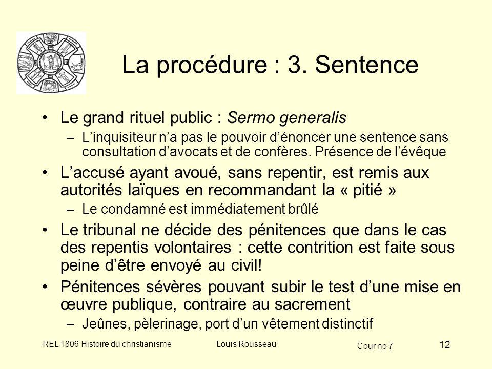 La procédure : 3. Sentence