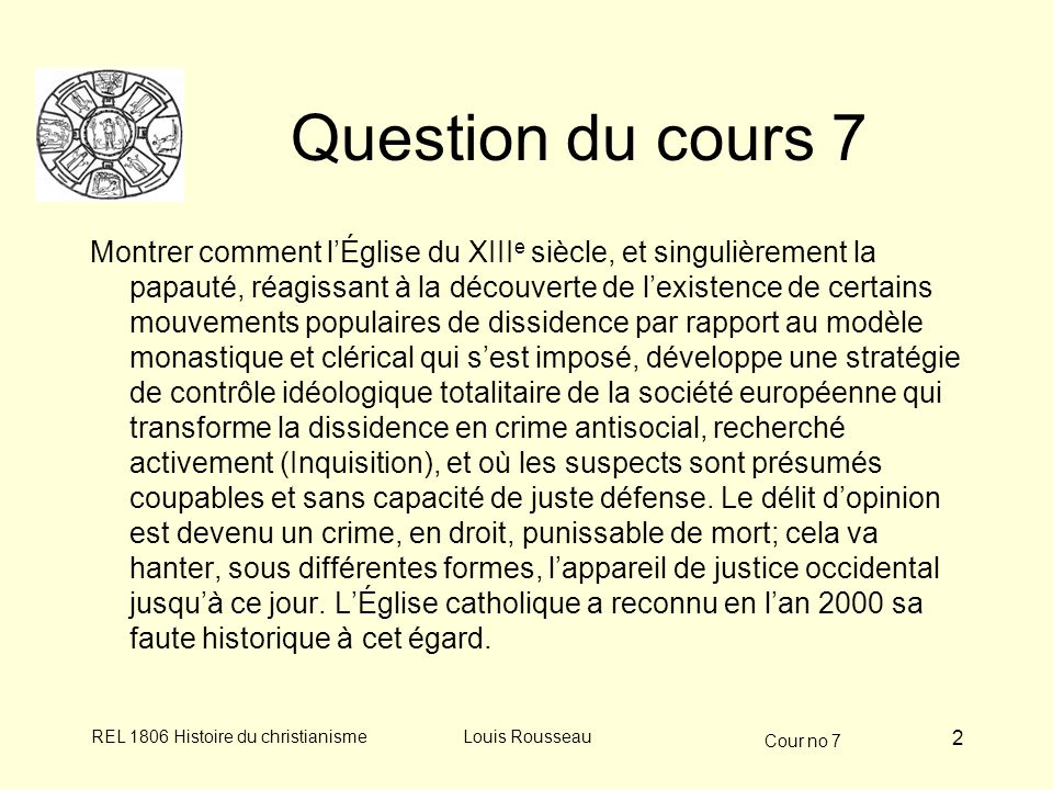 Question du cours 7