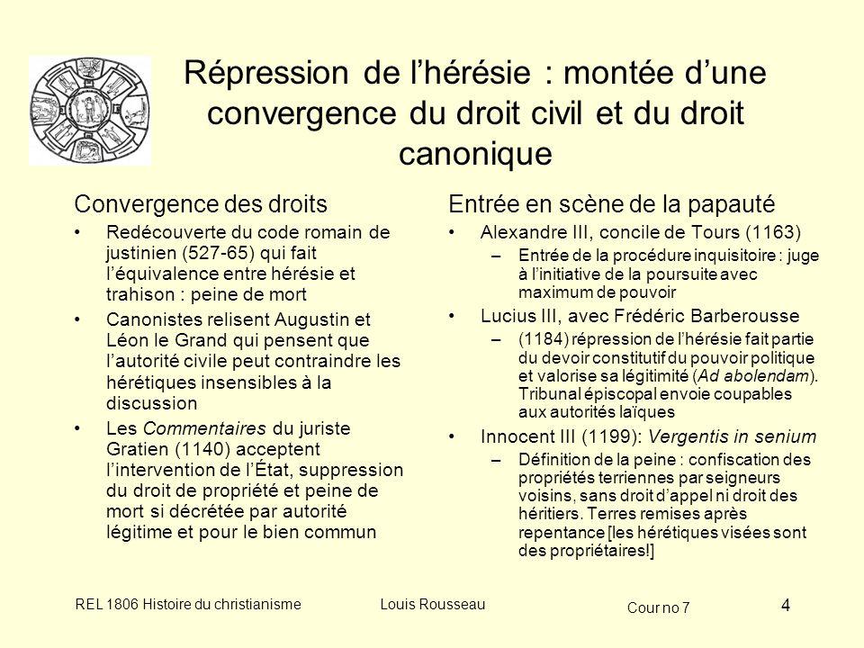 Répression de l'hérésie : montée d'une convergence du droit civil et du droit canonique