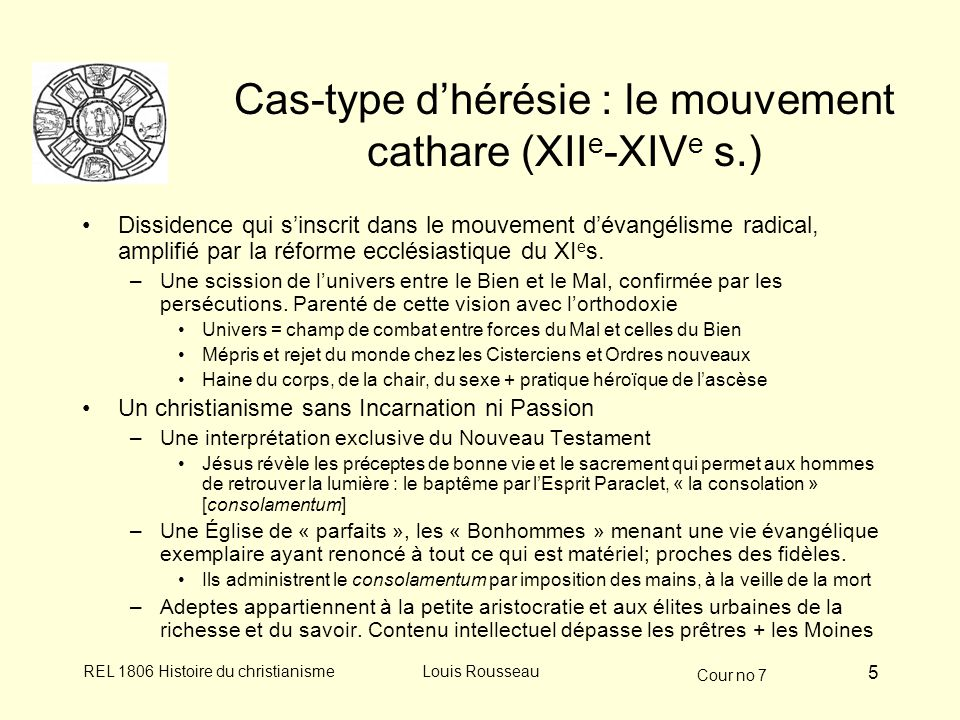 Cas-type d'hérésie : le mouvement cathare (XIIe-XIVe s.)