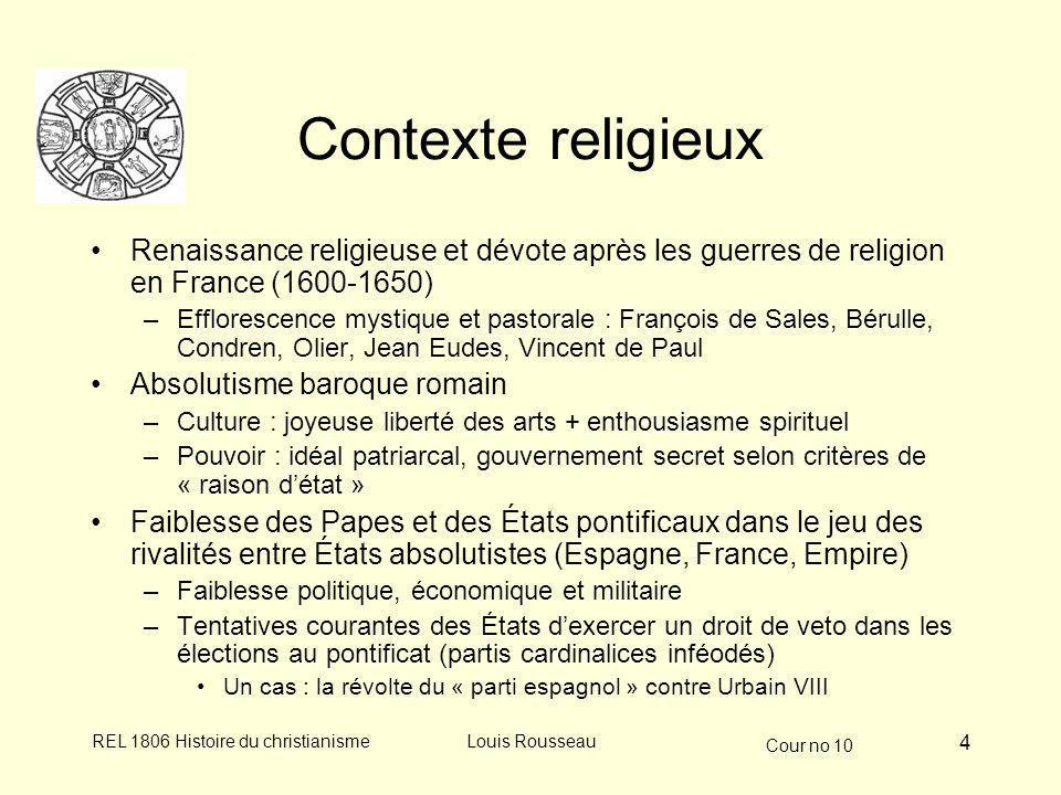 Contexte religieux Renaissance religieuse et dévote après les guerres de religion en France (1600-1650)