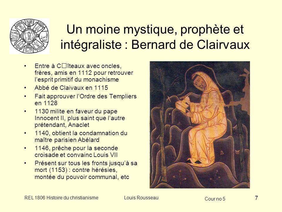 Un moine mystique, prophète et intégraliste : Bernard de Clairvaux