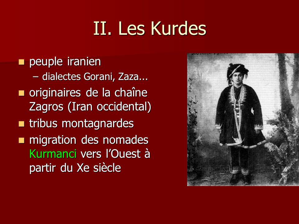 II. Les Kurdes peuple iranien