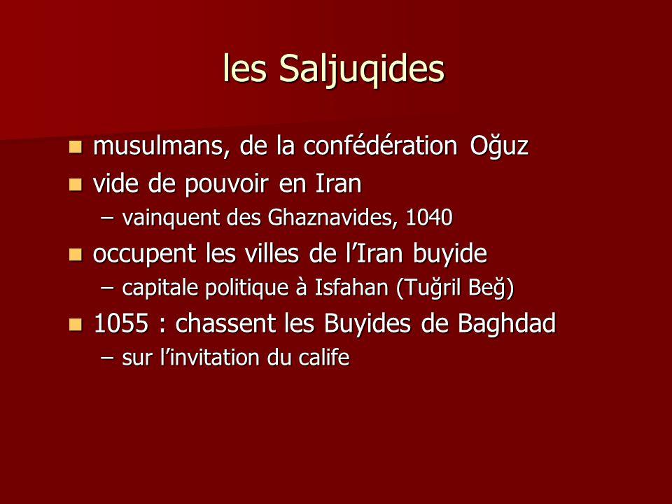 les Saljuqides musulmans, de la confédération Oğuz