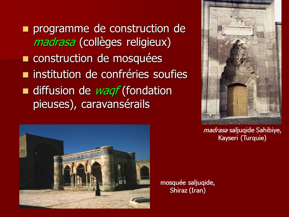 programme de construction de madrasa (collèges religieux)