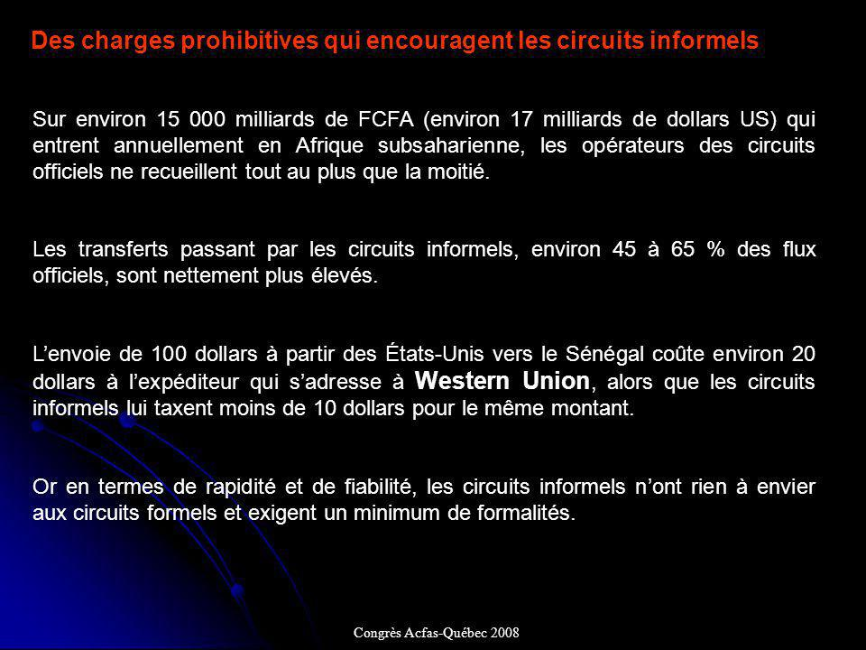 Des charges prohibitives qui encouragent les circuits informels