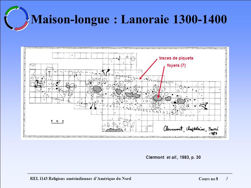Maison-longue : Lanoraie 1300-1400