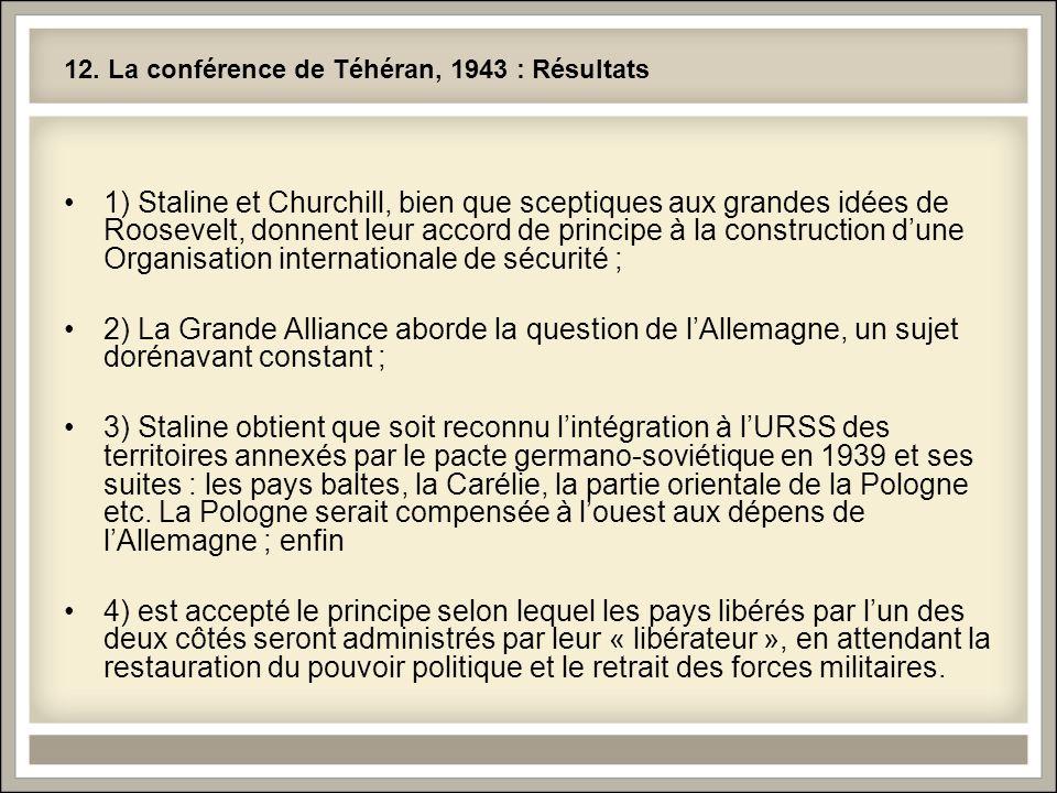 12. La conférence de Téhéran, 1943 : Résultats