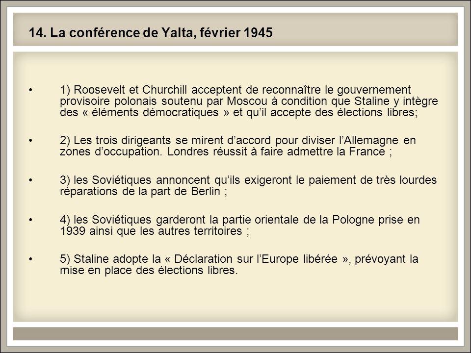 14. La conférence de Yalta, février 1945