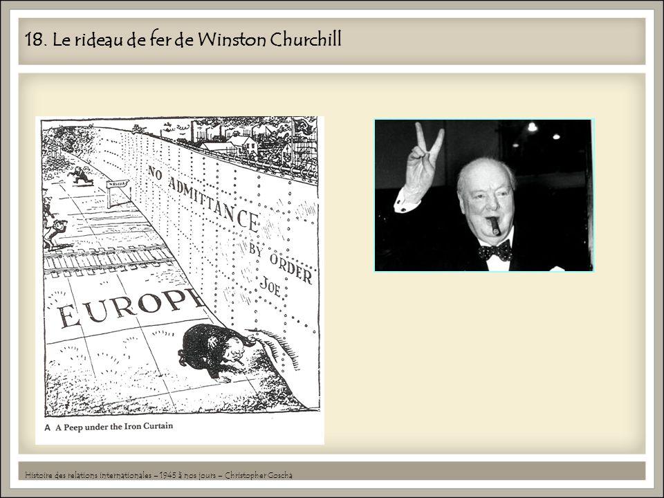 18. Le rideau de fer de Winston Churchill