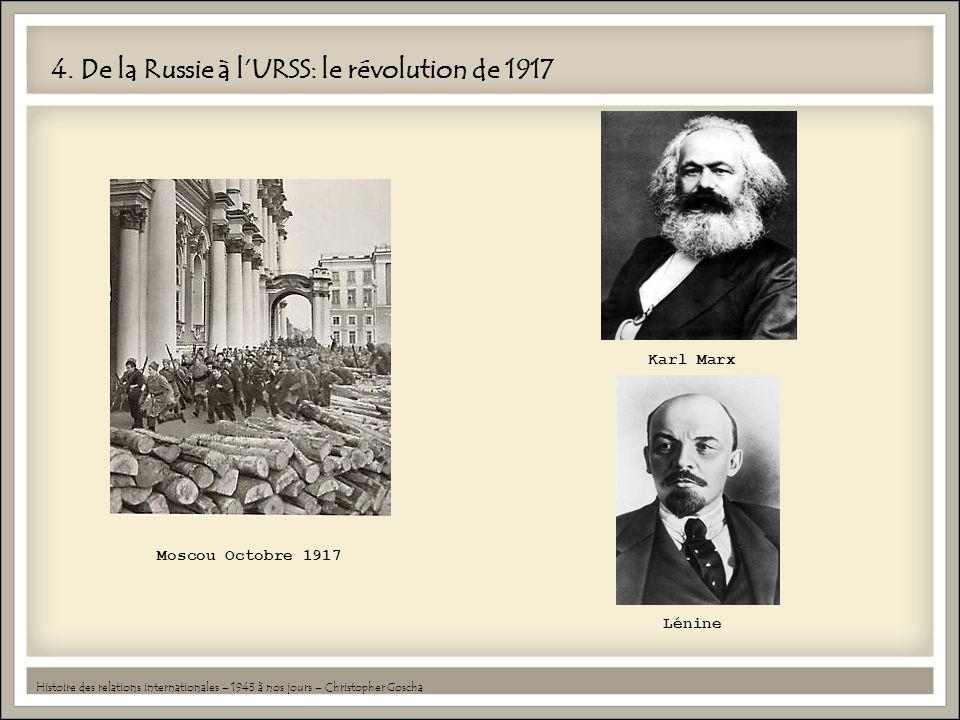 4. De la Russie à l'URSS: le révolution de 1917