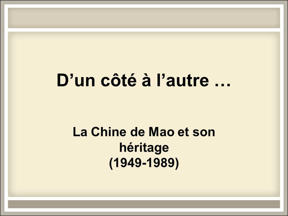 La Chine de Mao et son héritage (1949-1989)