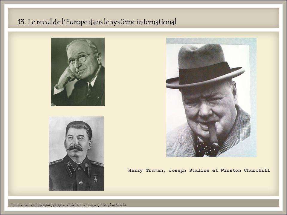 13. Le recul de l'Europe dans le système international