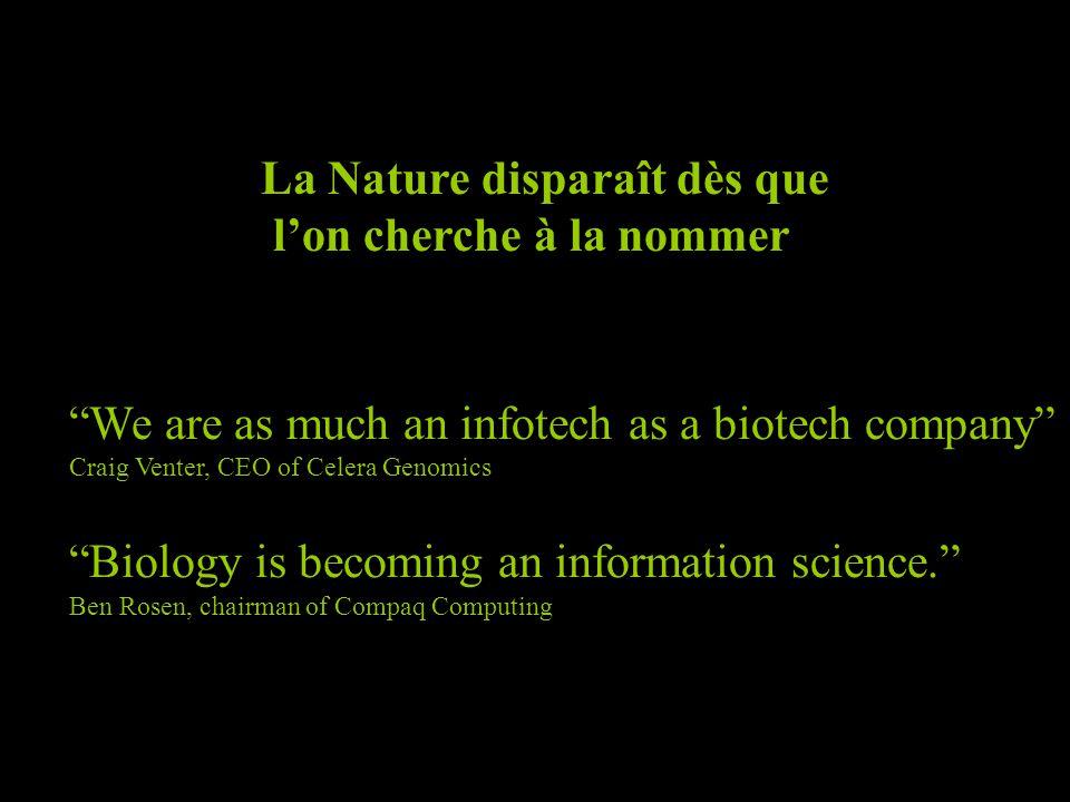 La Nature disparaît dès que l'on cherche à la nommer