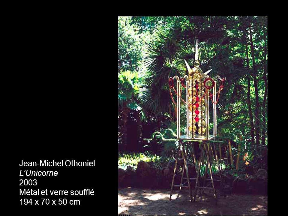 Jean-Michel Othoniel L'Unicorne 2003 Métal et verre soufflé