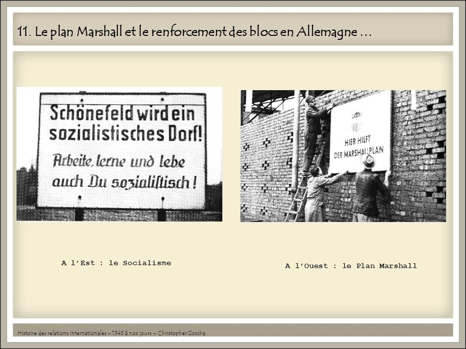 11. Le plan Marshall et le renforcement des blocs en Allemagne …