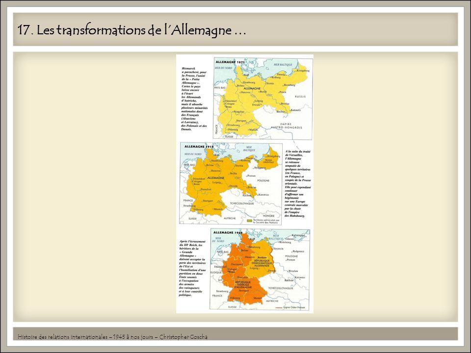 17. Les transformations de l'Allemagne …