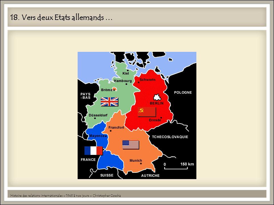 18. Vers deux Etats allemands …