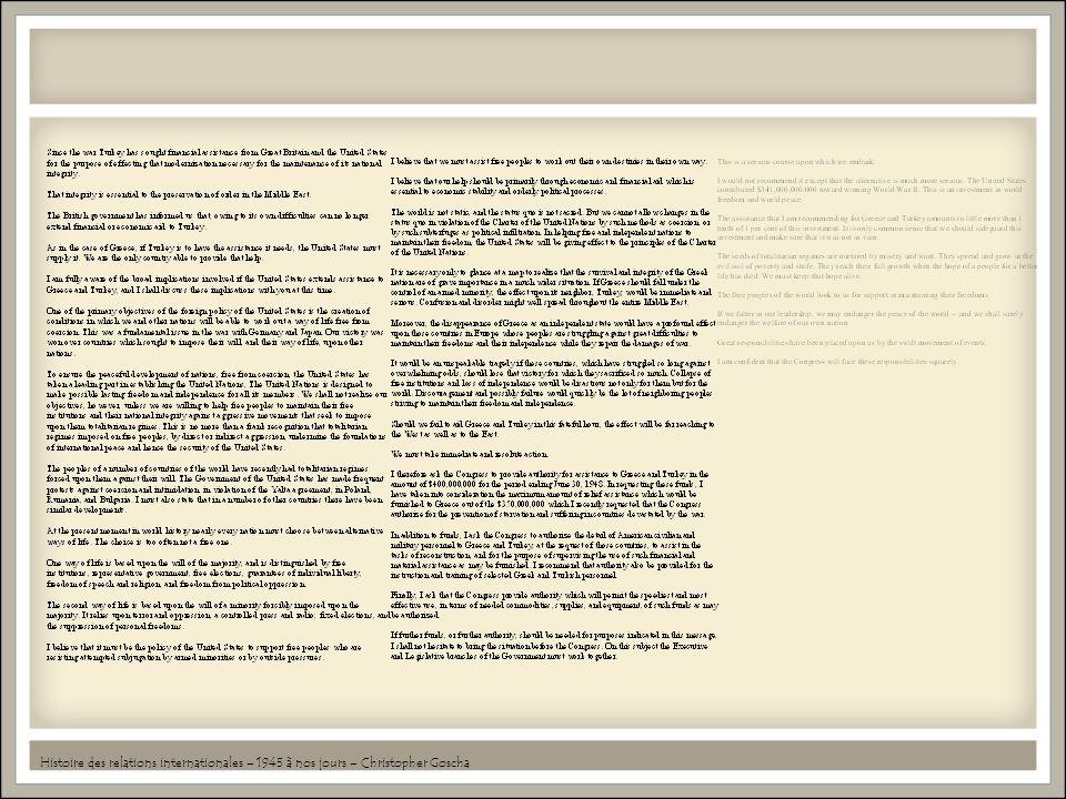 Histoire des relations internationales – 1945 à nos jours – Christopher Goscha