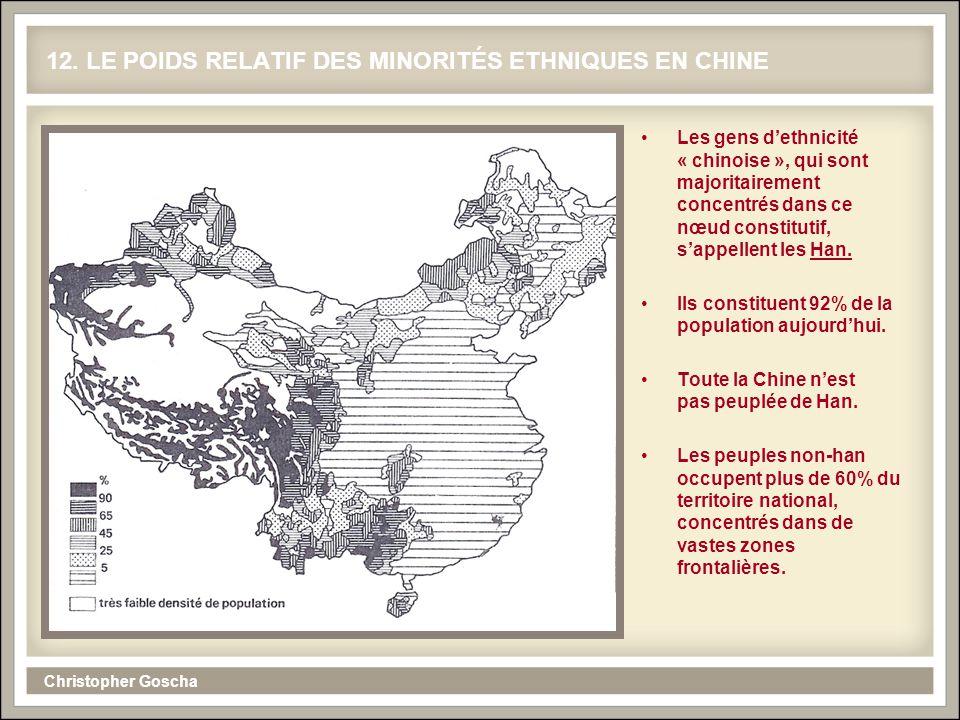 12. LE POIDS RELATIF DES MINORITÉS ETHNIQUES EN CHINE