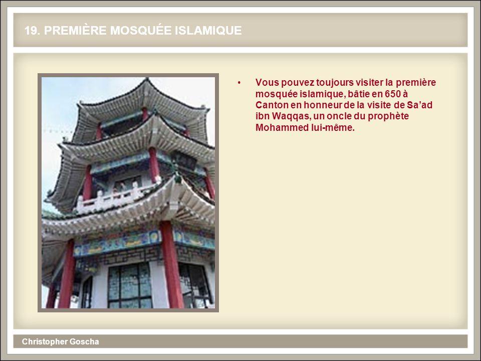19. PREMIÈRE MOSQUÉE ISLAMIQUE