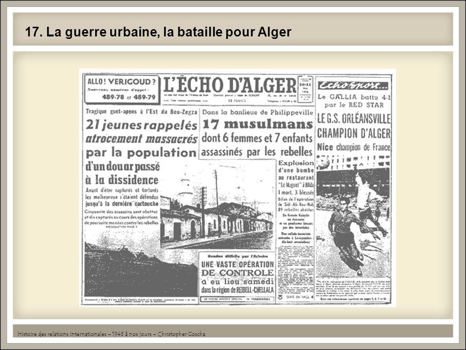 17. La guerre urbaine, la bataille pour Alger